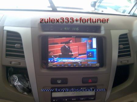 fortunerลงตัวกับzulex333เชื่อมต่อเพลงผ่านมือถือดูทีวีชัดเจนสนใจติดต่อคุณบอย081-6434998