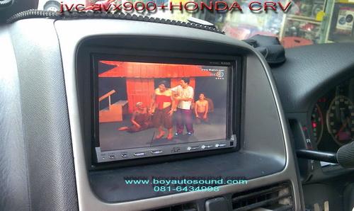 HONDA CRVลงตัวJVC avx900จุใจไม่ง้อแผ่น เล่นหนัง/เพลง/ภาพถ่ายผ่านusbกับexternal hardisk