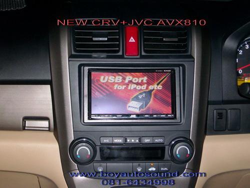 HONDA NEW CR-V กับ 2 din JVC AVX810ฟร้อมควบคุมคอนโทรลพวงมาลัยได้เหมือนเดิม