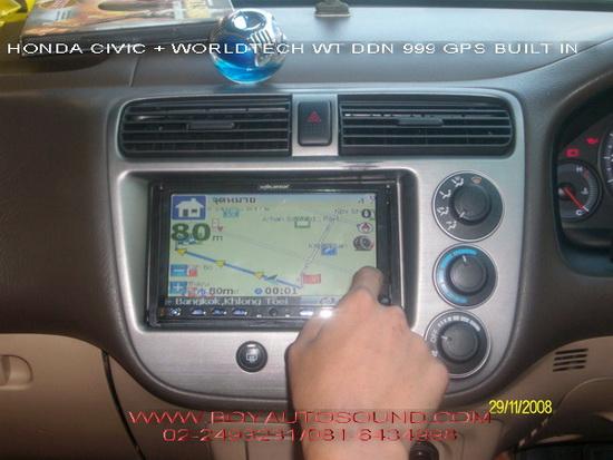 HONDA CIVIC สวยเนียน ขั้นเทพ WORLDTECH WT DDN999 GPS NAVIGATOR BUILT-IN