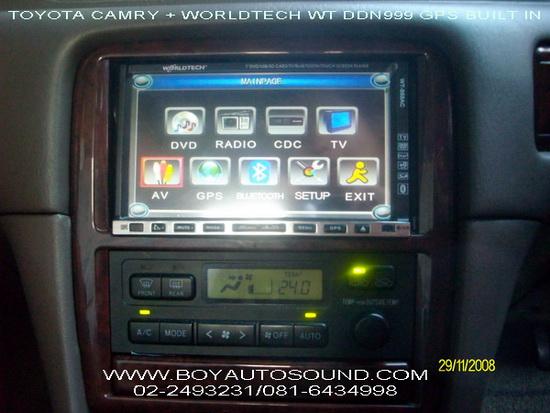 TOYOTA CAMRY กับเครื่องเล่นเวิล์ดเทค มีระบบนำทางในตัว  WORLDTECH WT DDN 999 GPS BUILT IN