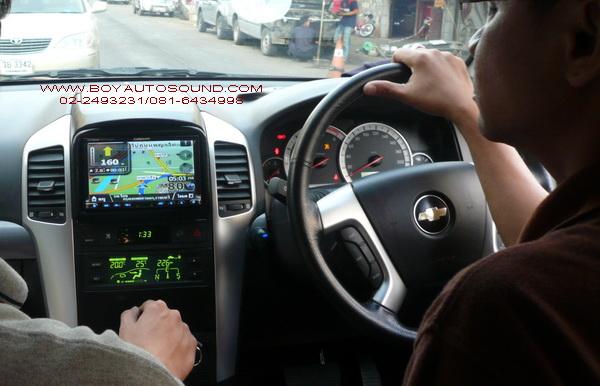 CHEVROLET CAPTIVA ติดตั้้งเครื่องเล่น 2din BUILT-IN GPS