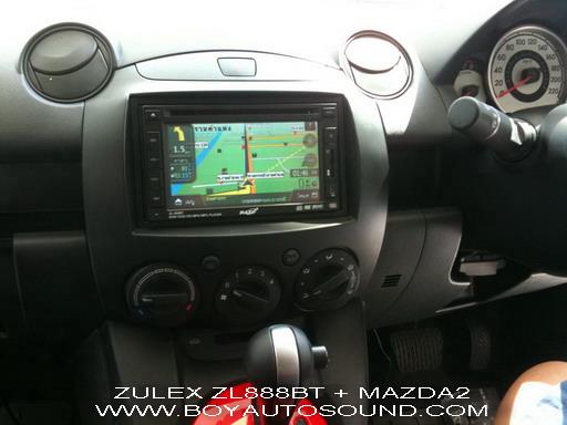 MAZDA2 เรียบหรูดูดีในราคาประหยัดด้วย ZULEX ZL-888BT ALL IN ONE DVD 2 DIN