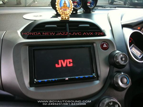 HONDA NEW JAZZ สวยหรู ดูดี มีสไตล์กับ JVC AVX 726