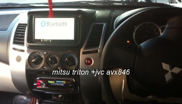 mitsubishi tritonเปลี่ยนหน้ากากใหม่+ติดตั้งjvc 2din JVC AV70btลงตัวสวยหรูดูดี