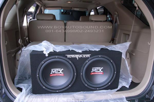 TOYOTA FORTUNER UPGRADE SET MTX SUBWOOFER + AMP เปิดให้กระหึ่ม โดยไม่ต้องดัดแปลงรถ