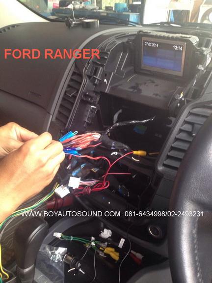 NEW FORD RANGER เปลี่ยนจอใส่Kenwood dnr8035btลงตัวสวยงามระบบไฟฟ้าใช้ได้เหมือนเดิม 1