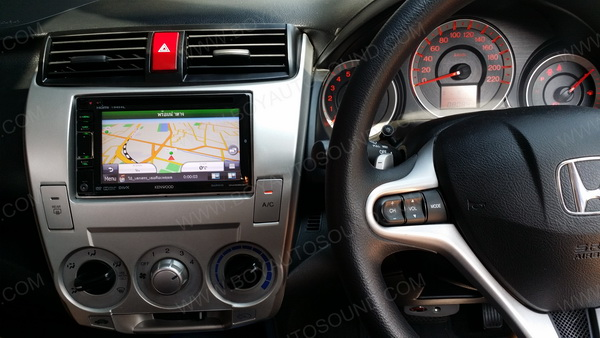 honda city 2009 ติดตั้ง kenwood dnx5350bt รุ่นมี GPS garmin + bluetooth ในตัว คู่แท้ความไฮเทค