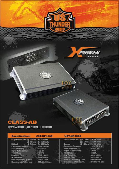 US THUNDER UST-XP4085 แอมป์ 4 ชาแนลกำลังขับ 200watts x4 @2ohm แอมป์ดี ราคาถูกงี้ก็มีในโลกด้วย
