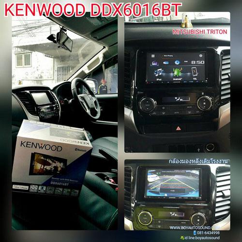 KENWOOD DDX6016BT ฮอตจริงอะไรจริง ติดตั้งใน MITSUBISHI NEW TRITON หล่อเท่ห์ไม่ซ้ำใคร