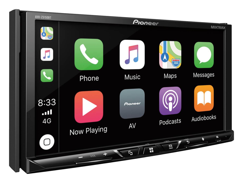 Pioneer AVH-Z5150bt มาแล้วจ้าเบอร์ใหม่ล่าสุดของปี 2018 จอ2din7นิ้วสไลด์ไฟฟ้า รองรับ apple carplay,