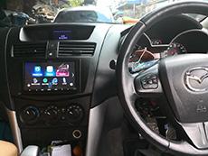 mazda bt50pro เปลี่ยนวิทยุ 2din kenwood dmx7018bt รุ่นใหม่ ฟังก์ชั่นเยี่ยม ใช้งานได้ดีมาก แถมงานหล่อ