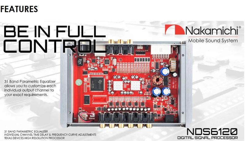 nakamichi NDS6120 DSP  12channel output 31band Equalizer Digital Sound Processor ขั้นเทพ ที่ต้องมี