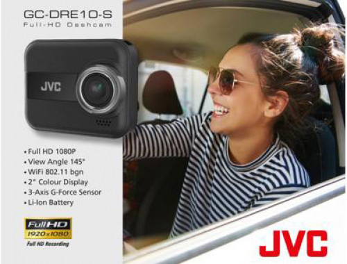 กล้องบันทึกเหตุการณ์หน้ารถ JVC GC-DRE10 S dashcam Full HD1080P เลนส์wide 145องศา  มี wifi built-in พ