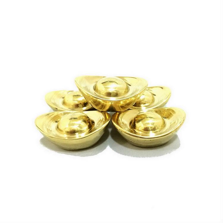 เงินจีน ทำด้วยทองเหลืองแท้ 5 ก้อน