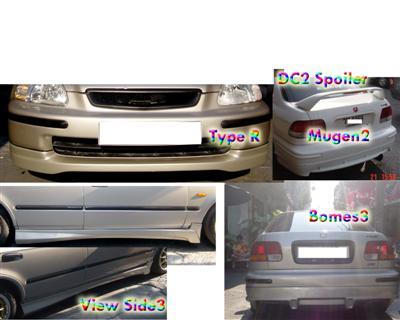 ลิ้นรอบคัน Civic 96 Type R+Bomex