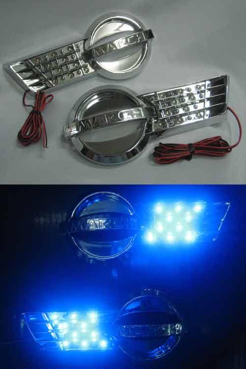 ครอบไฟแก้มLEDแสงสีฟ้าสำหรับ Nissan March