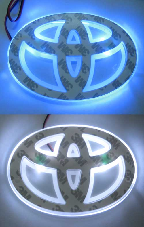 โลโก้ Toyota มีไฟสำหรับ Altis 2008 มีแสงฟ้าและแสงขาว