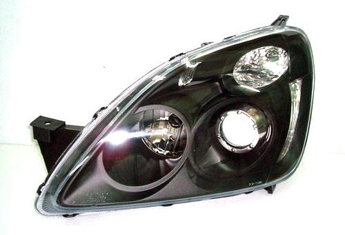 ไฟหน้าโปรเจคเตอร์ CR-V 03 โคมดำวงแหวน LED งาน Depo