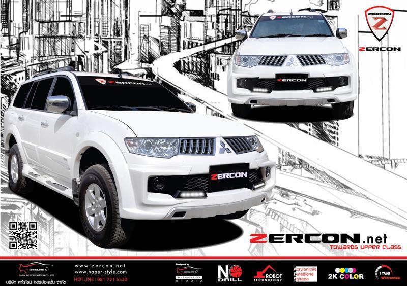 ชุดแต่งรอบคัน Pajero Sport ทรง ZERCON Z-II