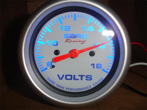 เกจ์ SARD วัด Volt หน้าขาว
