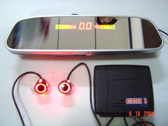 Sensor เตือนถอยหลัง 4 จุด+กระจกมองหลัง