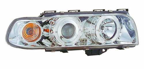 ไฟหน้าโปรเจคเตอร์วงแหวน LED โคมขาว E38(95-98)