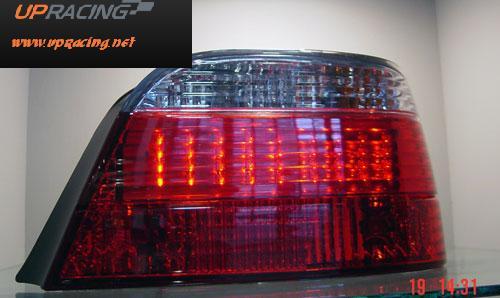 ไฟท้ายสีดำแดง LED  E38
