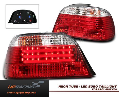 ไฟท้ายสีขาวแดง LED  E38