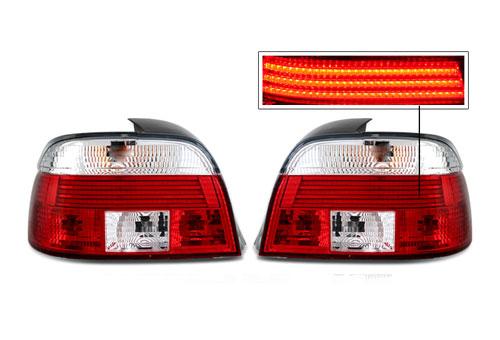 ไฟท้ายหน้าขาวแดง LED สำหรับ E39