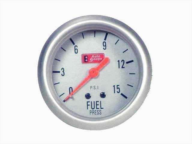 เกจ์Fuel-Press Auto-Gauge-รุ่น1 2.5_นิ้ว เงิน