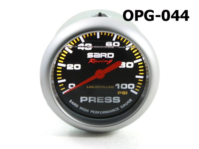 เกจ์Oil-Press SARD 2.5_นิ้ว (หน้าLF+น้ำมัน) 100psi (mechanic) ปัดดำ