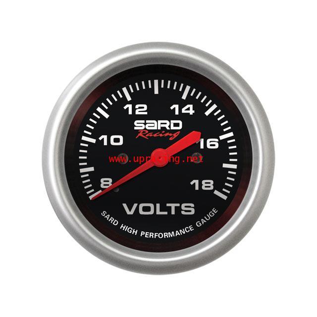 เกจ์ SARD วัด Volt หน้าดำ 24V.
