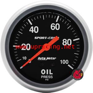 เกจ์Oil-Press AUTO-METER 2.5_นิ้ว Mechanic Sport-Comp_ดำ