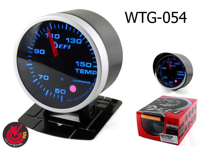 เกจ์Water-Temp EFI_รุ่น2 link+warning 60.0mm (SMOKE)หน้ามืด 1สี_น้ำเงิน