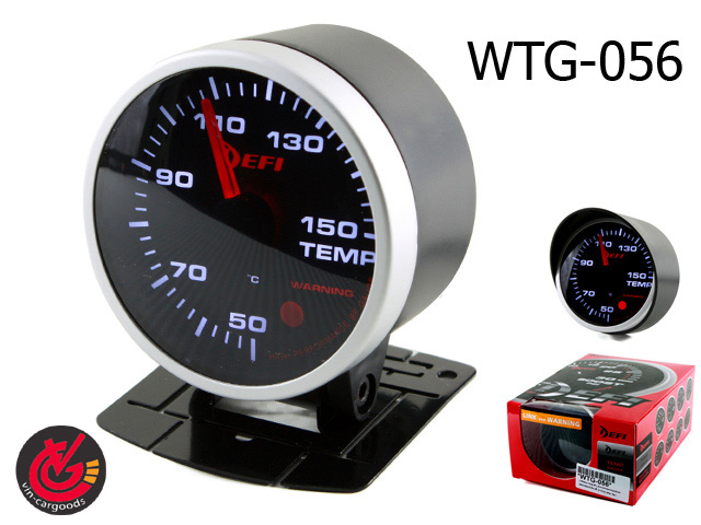 เกจ์Water-Temp EFI_รุ่น2 link+warning 60.0mm (SMOKE)หน้ามืด 2สี_ขาว-แดง
