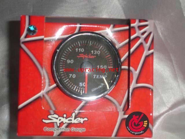 เกจ์Water-Temp Spider 60.0mm. (ปัดดำ) Xenon