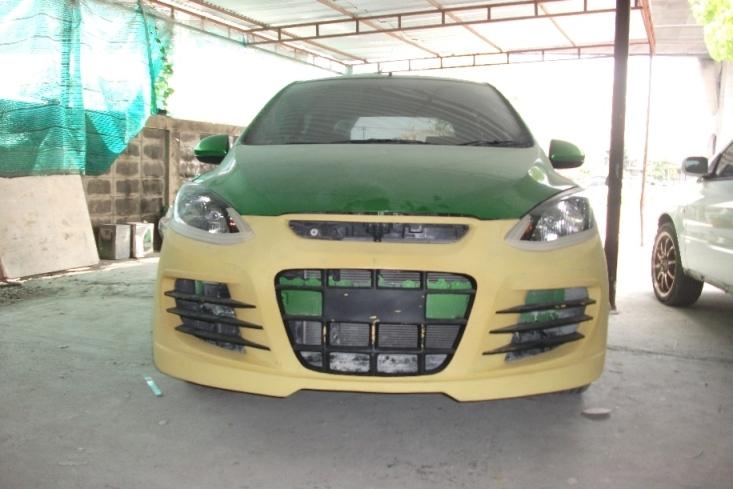 กันชนหน้าเต็ม Mazda2 ทรง R8