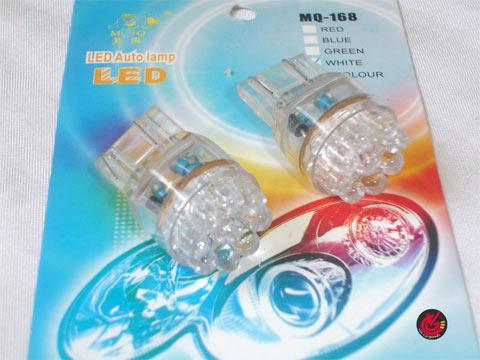 หลอดไฟLED T20 2ไส้ MQ-168 9เม็ด (2ดวง) ซีนอน