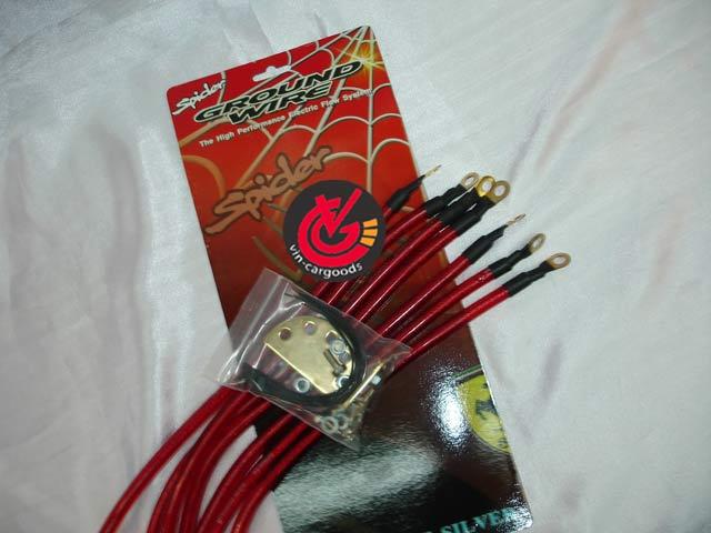 สายGround-wire Spider สายเงินถัก 10.0mm.7เส้น (แดง)