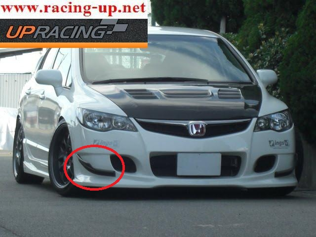 เรียงอากาศกันชนหน้า สำหรับ Honda Civic FD ปี 2007 -2011 ใส่กันชนหน้า ings+1 v2
