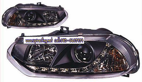 ไฟหน้าโปรเจคเตอร์ ALFA ROMEO 156 99-04 ดำ LED ยาว
