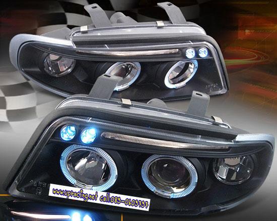 ไฟหน้าโปรเจคเตอร์ AUDI A4 95-00 ดำ มุมติด วงแหวน (V.2)