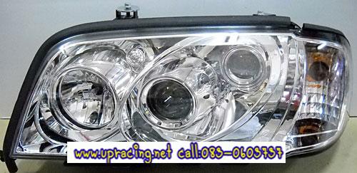 ไฟหน้าโปรเจคเตอร์ BENZ C-CLASS W202 94-00 ขาว มุมติด
