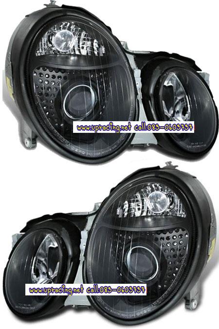 ไฟหน้าโปรเจคเตอร์ BENZ CLK W208 98-02 ดำ