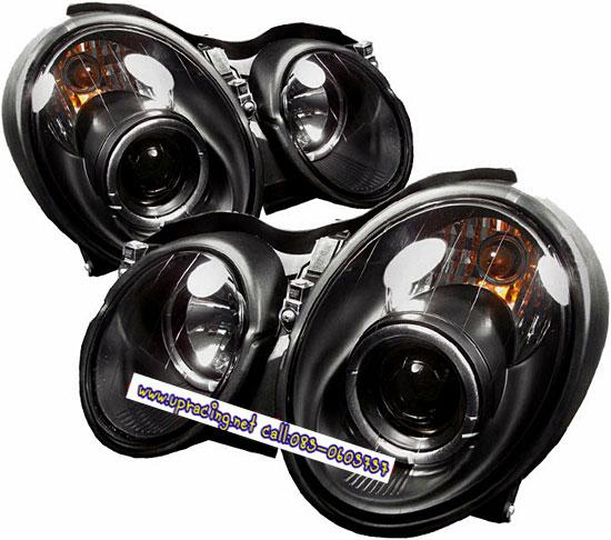ฟหน้าโปรเจคเตอร์ BENZ CLK W208 98-02 ดำ วงแหวน
