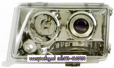 ไฟหน้าโปรเจคเตอร์ BENZ E-CLASS W124 85-96 ขาว