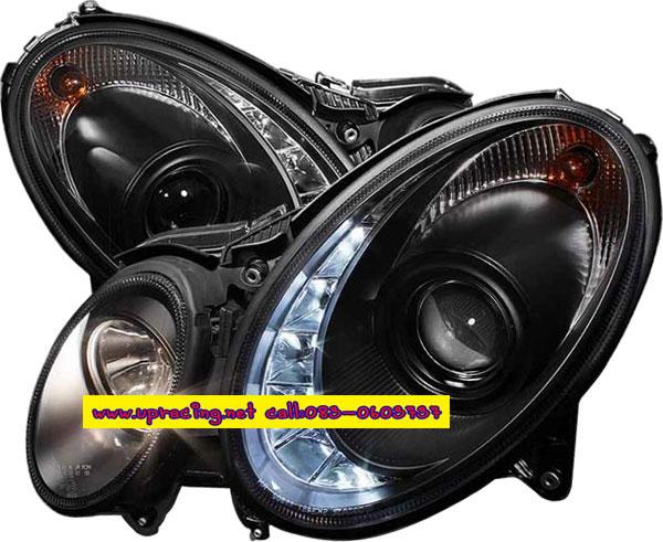 ไฟหน้าโปรเจคเตอร์ BENZ E-CLASS W211 07-09 ดำ LED ยาว