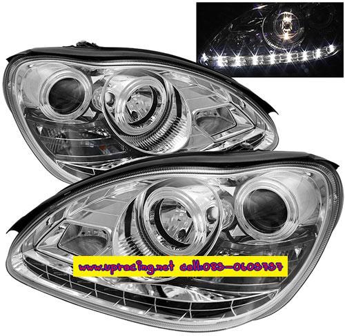 ไฟหน้าโปรเจคเตอร์ BENZ S-CLASS W220 98-05 ขาว LED ยาว
