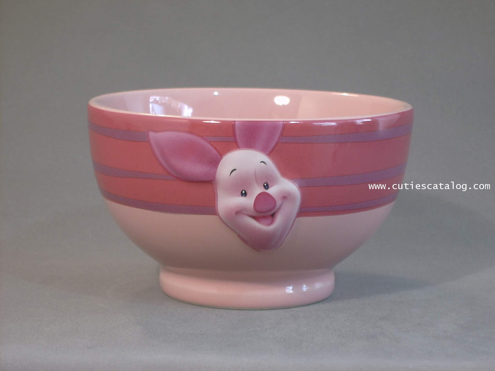 ชามดิสนีย์ ชุดลายหน้าใหญ่ ลายพิกเลท (piglet face bowl)
